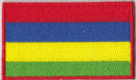 Mauritius Embroidered Flag Patch, style 04.